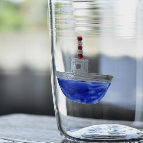 glass「白い船」ワタナベ サラ 028227-10-429