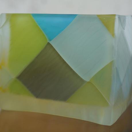 glass「四角ぐい呑み」佐野 猛 029573-2-116