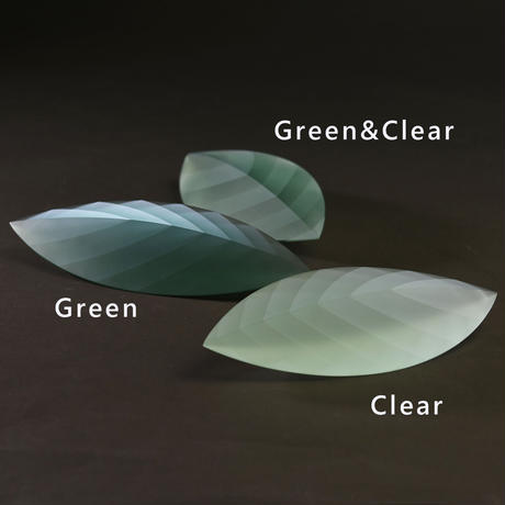 ornament「Layers of Light -Leaf-S  Green&Clear」小島 有香子 021802-2-324