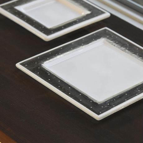 plate「泡のリム皿(中)」戸島 邦子 024666-1-309