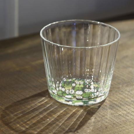 glass「百花景 そばちょこーしろつめくさ」金津 沙矢香 031109-1-311
