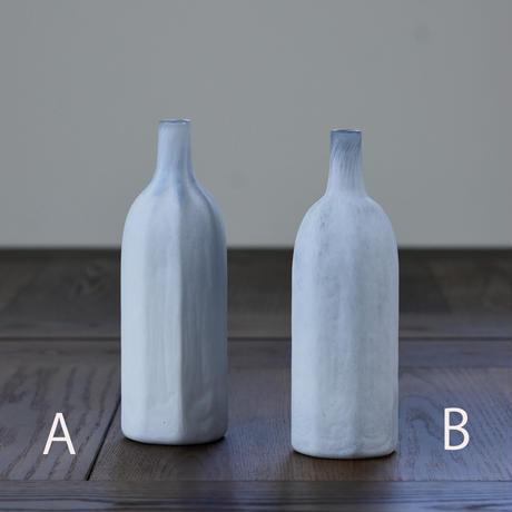flower vase「白のうつわ」小宮 崇 030398-1-417