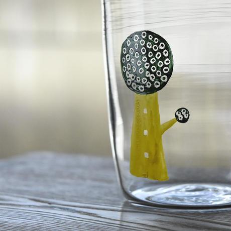 glass「黄色い木」ワタナベ サラ 028227-14-432