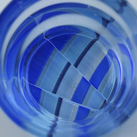 glass「ボトムモザイクぐいのみ」佐野 猛 004402-1-375