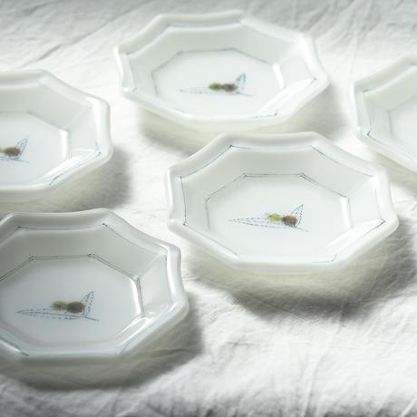 plate「色絵豆皿 クリ」戸島 邦子 024446-6-341