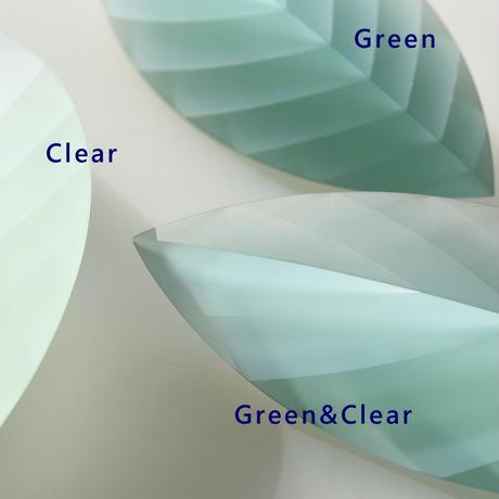 ornament「Layers of Light -Leaf-S  Green」小島 有香子 021802-2-324