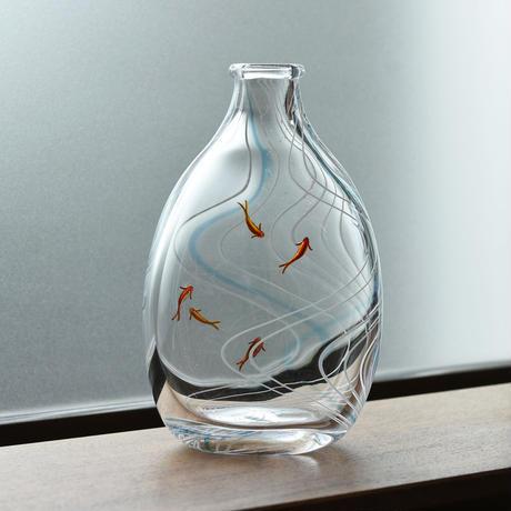 flowervase「流水紋の花器」久保 裕子 029760-1-392