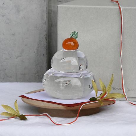 ornament 「鏡餅」TOYAMA GLASS STUDIO