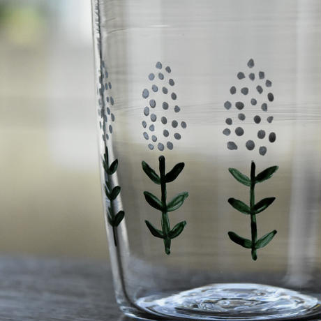 glass「白い花」ワタナベ サラ 028227-15-433