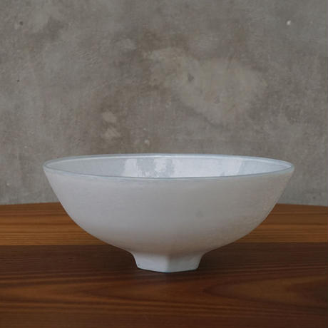 bowl「白のうつわ blue」 小宮 崇 029250-2-40
