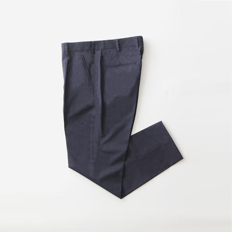 5A SILK COTTON TROUSERS NAVY