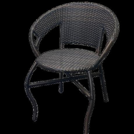 ラタンチェア(籐椅子)シンセティックラタン【typeA】ブラウン