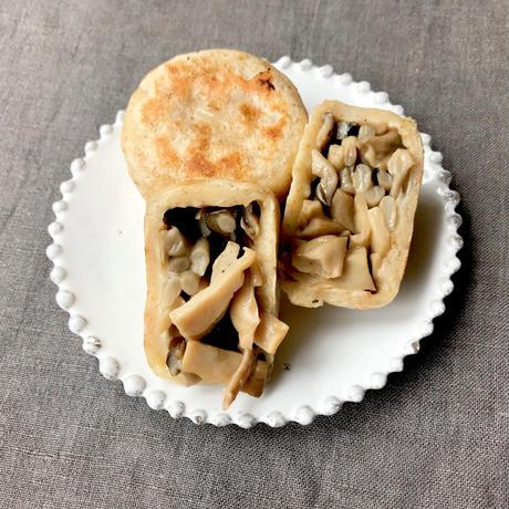 小昼堂のおやき詰合せ 6個◆きのこ野沢菜きんぴら◆