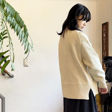 Inswirl WOOL KNIT PULL OVER  【 IVORY  】