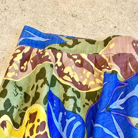 大判花柄スカート