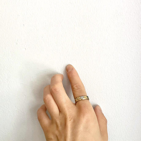 Jona    rock ring 5mm silver/12号
