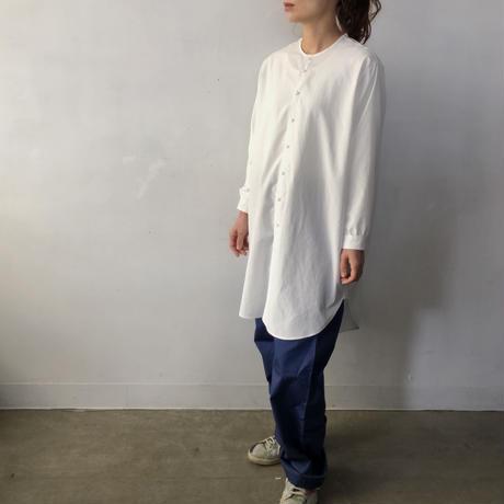 NO CONTROL AIR  ノーカラーロングシャツ / Off white / XS