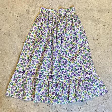 1950's 花柄フリルスカート