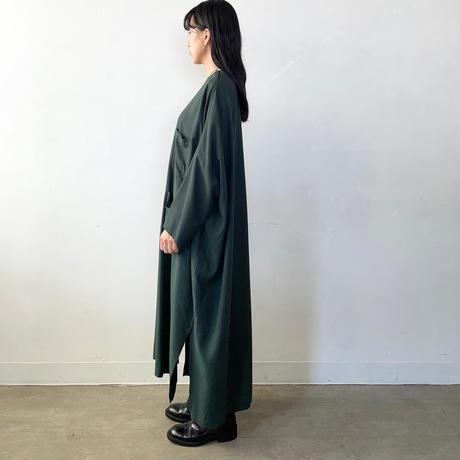 FIRMUM レーヨンシーチング  ロングプルオーバー / Bottle Green / XS