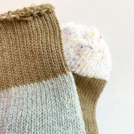ASEEDONCLÖUD   Seasonal socks  [ Beige ]