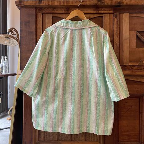 ポーランド スリーピングシャツ  dead stock  / ライトグリーン