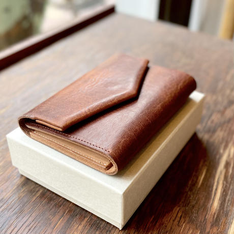 ohta  letter wallet (折り財布)   brown