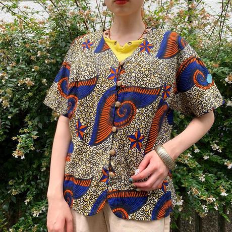 アフリカンバティック 半袖シャツ