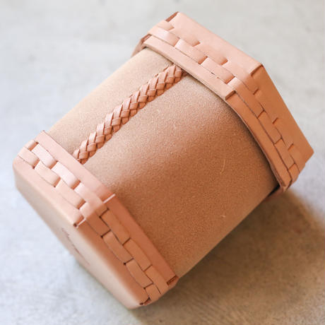 EATABLE Toilet Roll Split Leather Box Natural