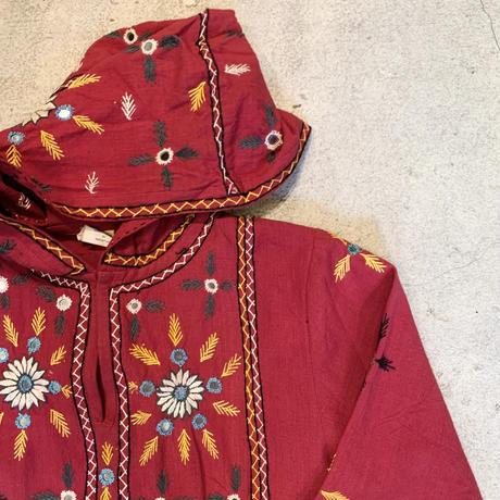 パキスタン 刺繍 フード付き ワンピース 3
