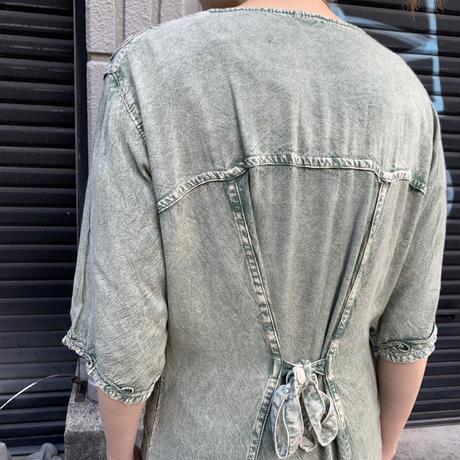 インドレーヨン 刺繍 ワンピース