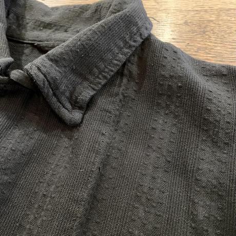 ブルガリア スリーピングシャツ 後染めblack