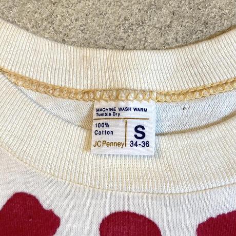 "1970's ""JC penney"" ハンドプリントTシャツ"