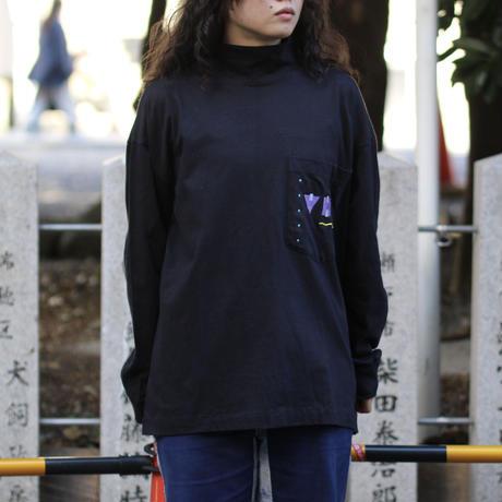 """""""VH1""""モックネックポケットL/S Tシャツ"""
