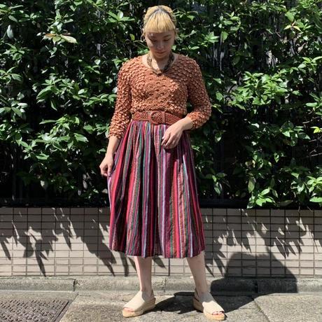 ハンドメイド 刺繍 スカート