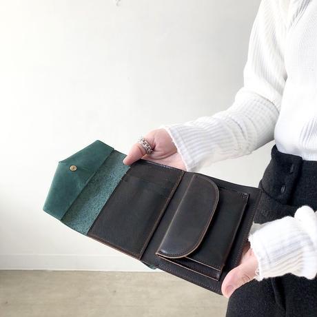 ohta  letter wallet (折り財布)   blue green