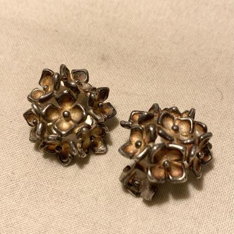 シルバーイヤリング 花