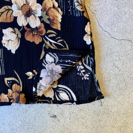 クレープ地 花柄 トップス