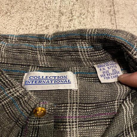 チェック柄コットンシャツ
