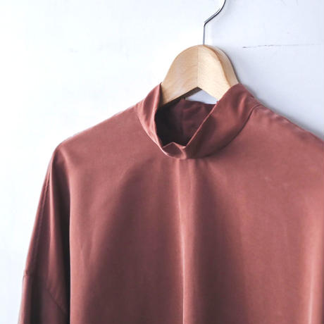 NO CONTROL AIR フィブリルテンセル スタンドカラートップス / Pink brown / 38