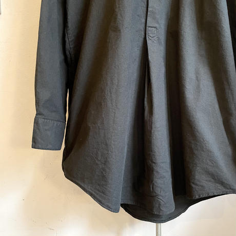 チェコ 60's グランパシャツ 後染めblack(M)
