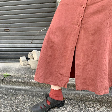 シースルー切り替え スカート
