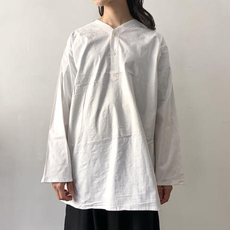 ロシア スリーピングシャツ  ヘンリーネック / ホワイト 46