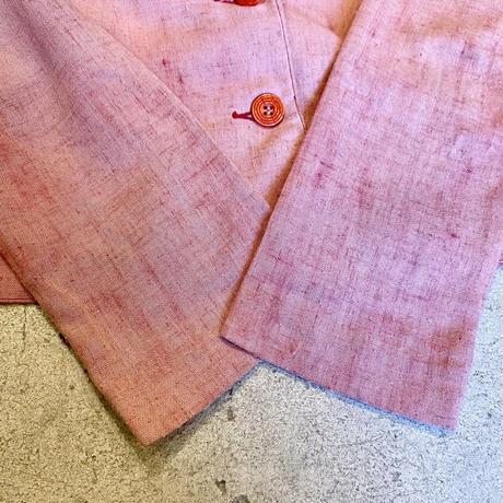 ジャケット ショート丈 ピンク