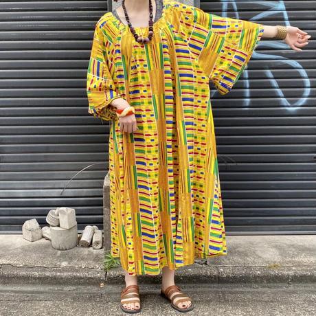 アフリカンプリント ワンピース