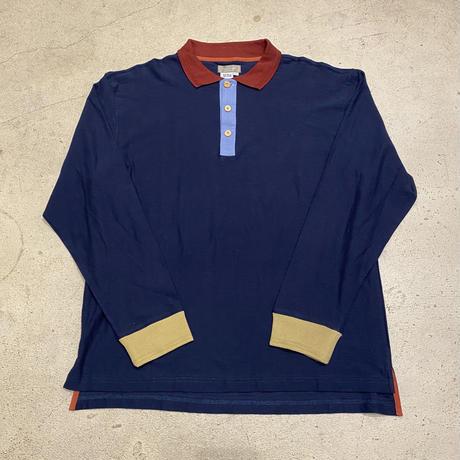 マルチカラー切替ポロシャツ