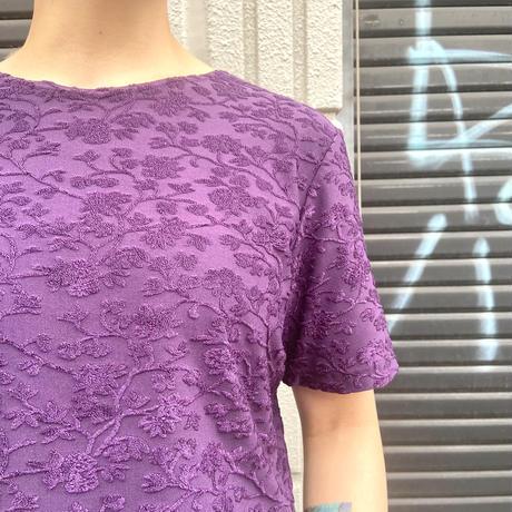 花刺繍カットソー