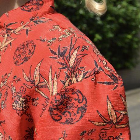 花総柄 シャツジャケット