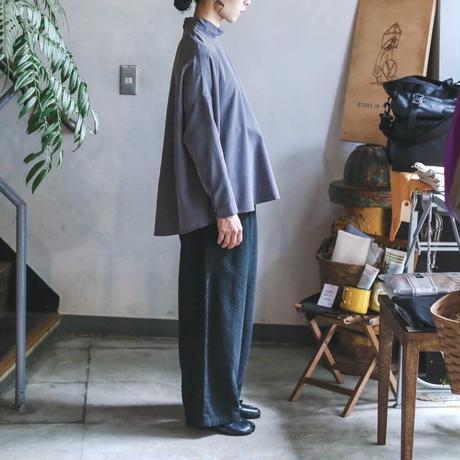 NO CONTROL AIR フィブリルテンセル スタンドカラートップス / Slate Grey / 38