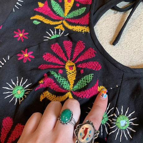 インド刺繍 ミラーワーク チュニック
