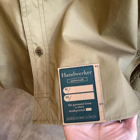 Handwerker  カラーレスシャツ khaki /S